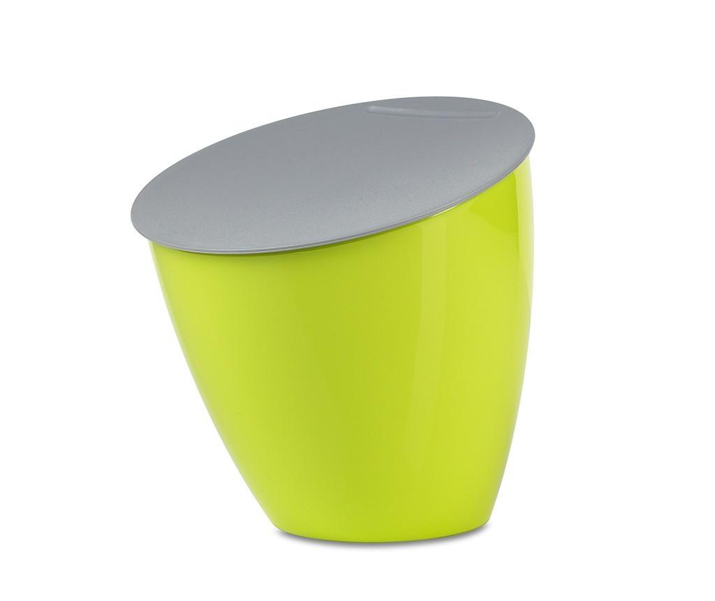Cos de gunoi cu capac Calypso Lime 2.2 L