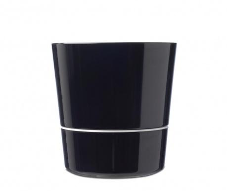 Γλάστρα με σύστημα αυτόματου ποτισμού Hydro Black