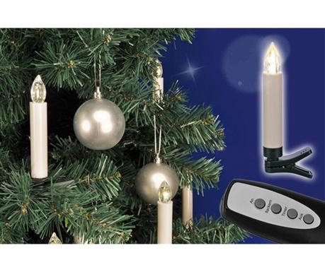 Zestaw 20 świeczek z diodą LED Mini