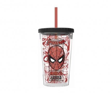 The Amazing Spider-Man Pohár fedővel és szívószállal 473 ml