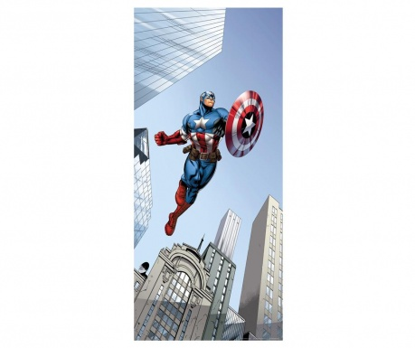 Tapeta Captain America in Action 90x202 cm