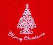 Ręcznik kąpielowy Christmas Tree Red 30x50 cm
