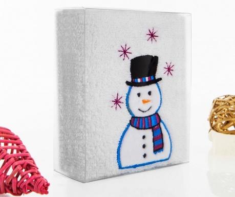 Smiling Snowman Fürdőszobai törölköző 30x50 cm