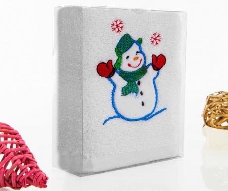Joyful Snowman Fürdőszobai törölköző 30x50 cm
