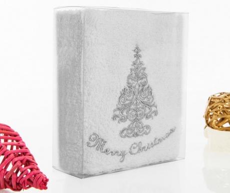 Silver Christmas Fürdőszobai törölköző 30x50 cm