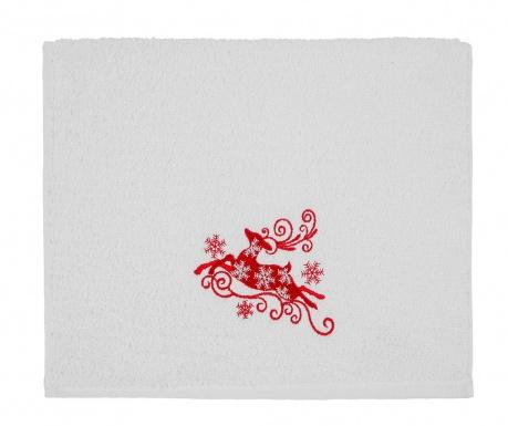 Kupaonski ručnik Reindeer Snowflakes 30x50 cm