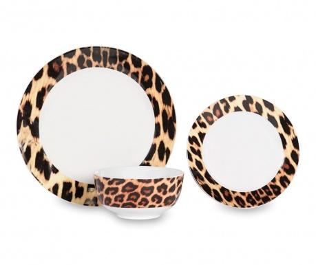 Dwunastoczęściowa zastawa stołowa Leopard