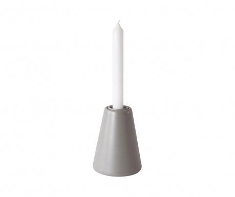 Svečnik s svečo Vulcano Grey M