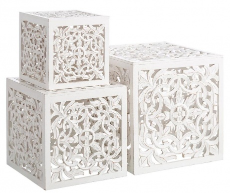 Arabian Blanco 3 db Asztalka
