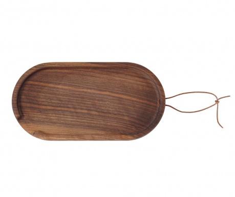 Servírovací podnos Flip Oval Small Walnut