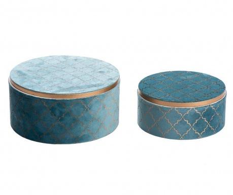 Zestaw 2 pudełek z pokrywką Luice