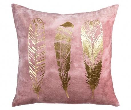 Poduszka dekoracyjna Feathers Pink Gold 60x60 cm