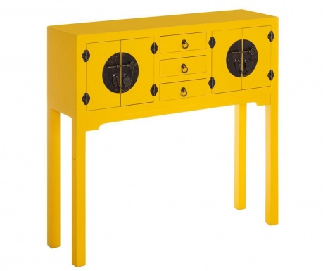 Konzolna miza Verena Wide Yellow