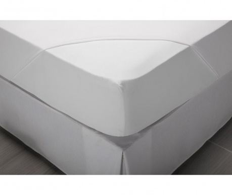 Comfort White Perkál Gumis lepedő