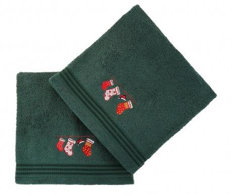 Christmas Gifts Green 2 db Fürdőszobai törölköző 70x140 cm