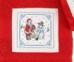 Zestaw 2 ręczników kąpielowych Santa and Snowman Red