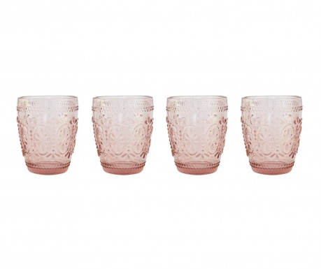 Zestaw 4 szklanek do wody William Purple