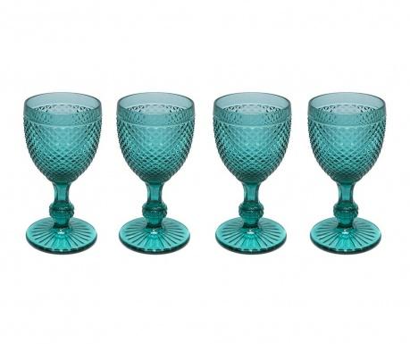 Zestaw 4 kieliszków do wina Gaia Emerald Green