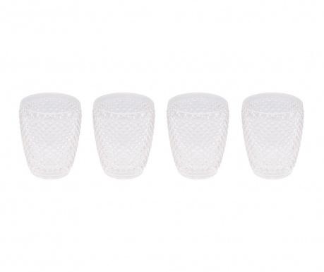 Zestaw 4 szklanek do wody Gaia Transparent