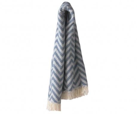 Priročna odeja Chevron Night Blue 140x180 cm