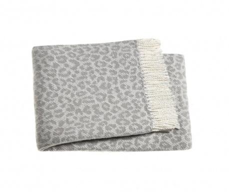 Leopard Light Grey Pléd 140x180 cm