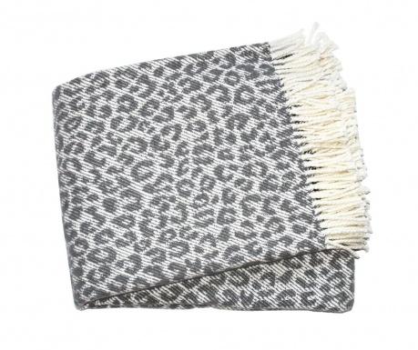 Leopard Dark Grey Pléd 140x180 cm