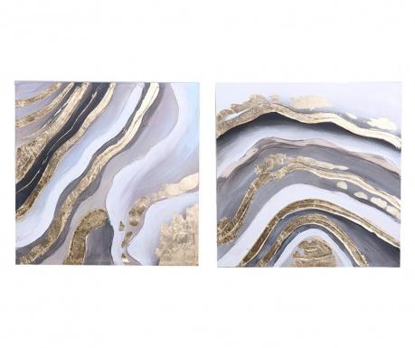 Set 2 tablouri Loren 60x60 cm