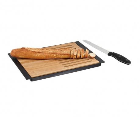 Zestaw deska do krojenia i nóż do chleba Rowald