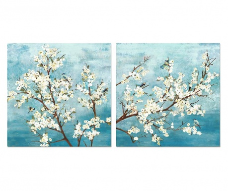 Set 2 tablouri Spring 60x60 cm