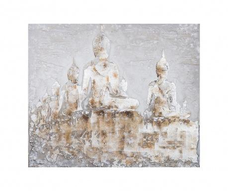 Картина Quebec Buddhas 100x100 см
