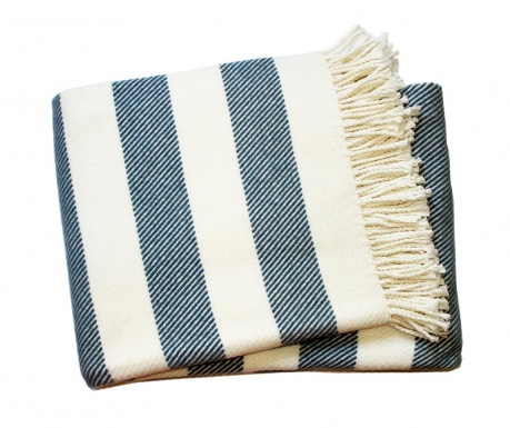 Pled Candy Stripe Night Blue 140x180 cm