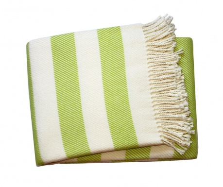 Koc Candy Stripe Lime Green 140x180 cm