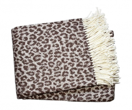 Pled Leopard Taupe 140x180 cm