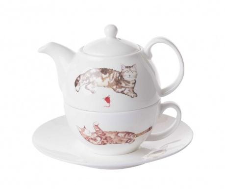 Set - čajnik s skodelico in krožničkom Cats at Home