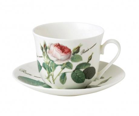 Set - skodelica in krožniček Rose Breakfast