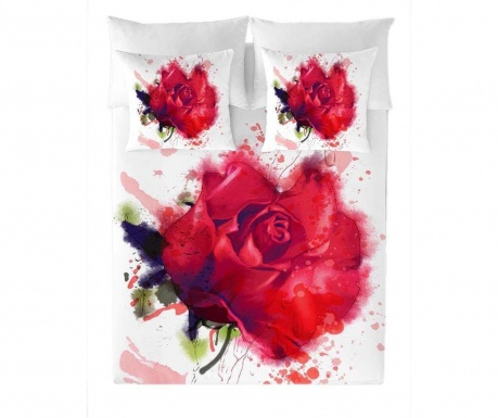 Posteljnina Double Ranforce Red Rose