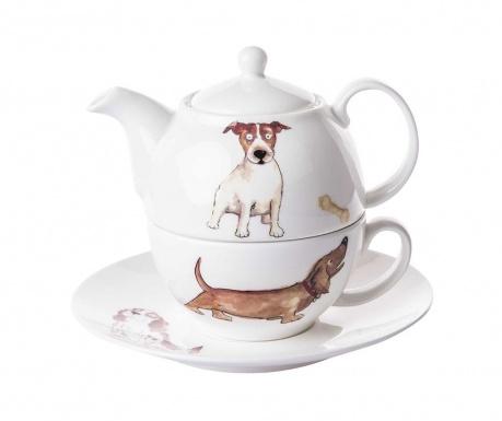 Dogs Home Teáskanna csészével és kistányérral