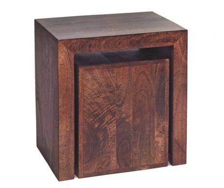 Zestaw 2 stolików Toko Dark Cube