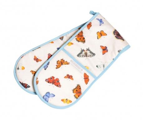 Butterfly Garden Dupla konyhai fogókesztyű