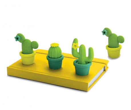 Set 4 gume de sters Cactus Shaped
