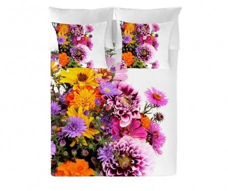 Posteljnina Double Ranforce Flowers Extra