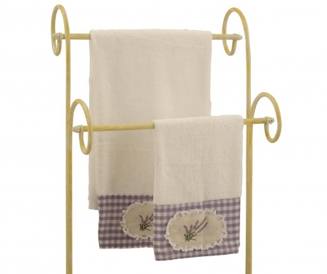 Set 2 kupaonska ručnika Lavander White
