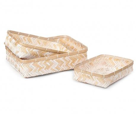 Set 3 košar Bamboo Simep