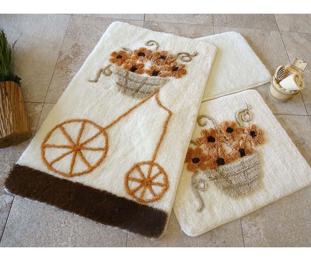 Alcati Brown 3 db Fürdőszobai szőnyeg