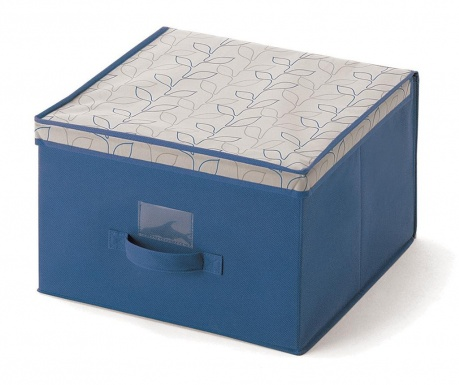 Κουτί με καπάκι για αποθήκευση Bloom Blue M
