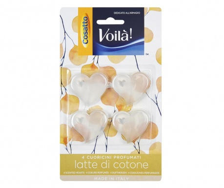 Set 4 mirisna dodatka za ormar Cotton Milk