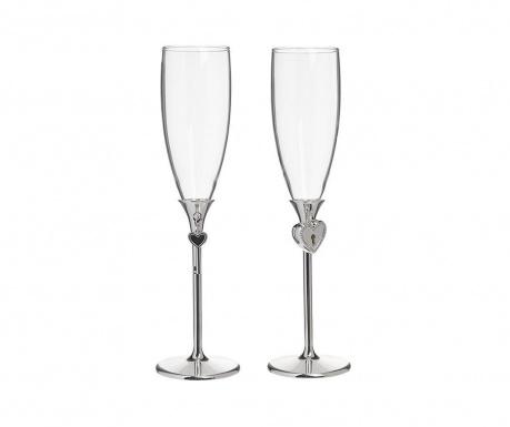 Комплект 2 чаши за шампанско Key 150 мл