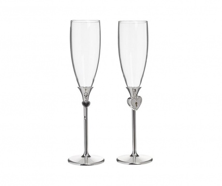 Set 2 kozarcev za šampanjec Key 150 ml