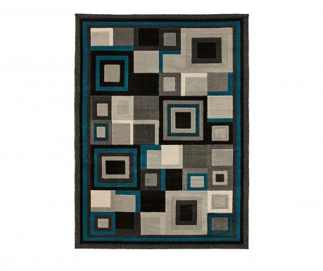 Hudson Black & Blue Szőnyeg