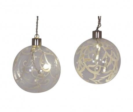 Set 2 svjetleće ukrasne kuglice Monset